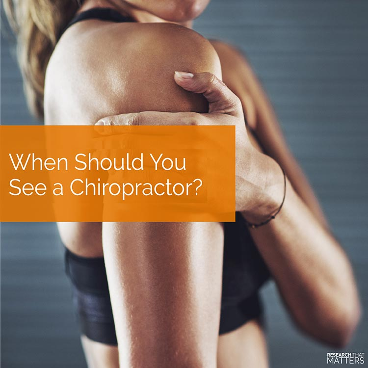 Chiropractic Coral Springs FL When Should You See a Chiropractor